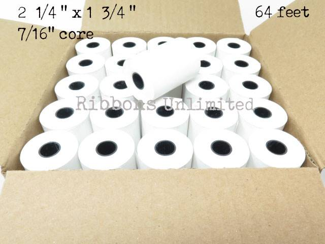 2 1/4 x 1 3/4 64 feet Thermal Paper Rolls 50