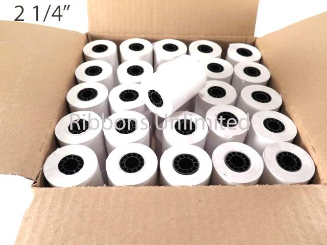 2 1/4 X 1 7/8 80 feet Thermal Paper Rolls 50CT