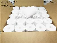 4 1/2 x 3 160 feet 1-Ply Paper Rolls 50 CT