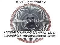 Silver Reed 6771 Light Italic 12 Printwheel