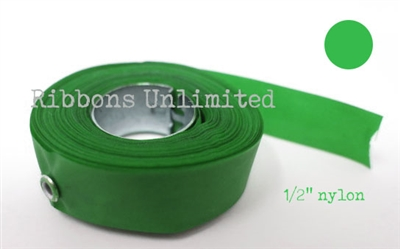 70GN 1/2 X15 Yds Green Nylon Ribbon With Eyelets