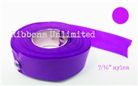71PU 7/16 X12 Yds Purple Nylon Ribbon W/Eyelets