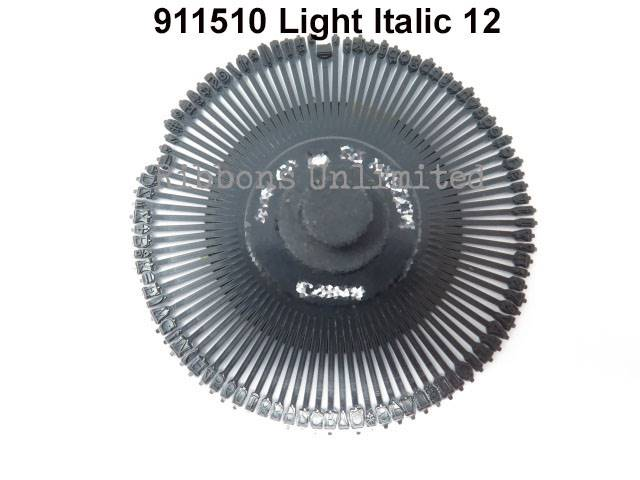 Canon 911510 Light Italic 12 Typewriter Printwheel