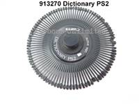Canon 913270 Dictionary PS2 Typewriter Printwheel
