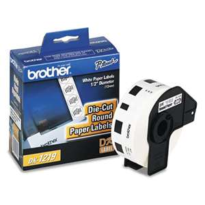 Brother DK1219 Labels 1200Pk Small Round 1/2