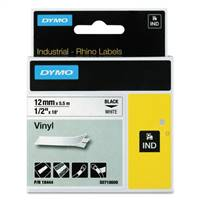 DYMO 18444 Industrial Labels Black on White Tape