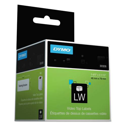 DYMO 30326 LabelWriter Labels Video Top 1.8 X 3.1