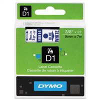 DYMO 40914 D1 Standard Blue on White Tape
