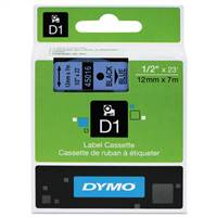 DYMO 45016 D1 Standard Black on Blue Tape