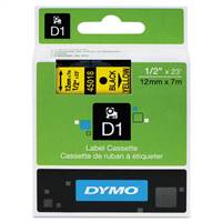 DYMO 45018 D1 Standard Black on Yellow Tape