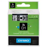 DYMO 53710 D1 Black on Clear Tape 1 X23'