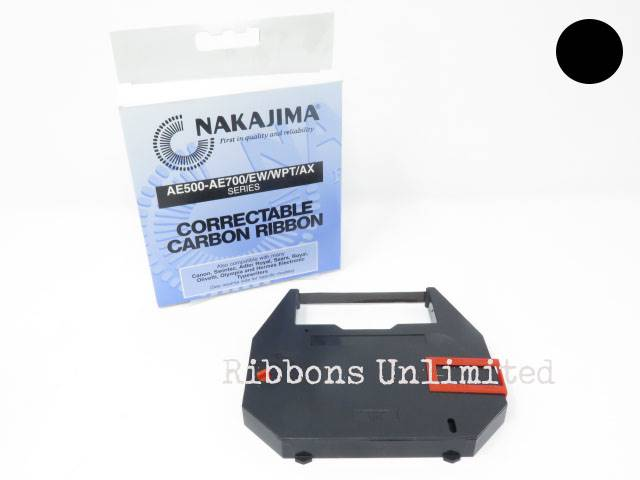 XC001 Nakajima Black Correctable Typewriter Ribbon