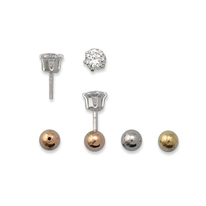 EBCZ - Reversible CZ and Ball Studs