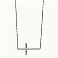 N0050 - Sideways Cross Nexklace