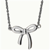 N0063 - Sideways Bow Necklace