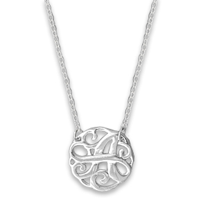 N0120-18 : 'A' Monogram Necklace