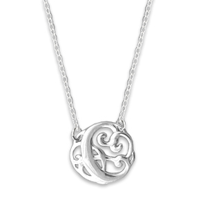 N0121-18 : 'C' Monogram Necklace