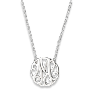 N0123-18 : 'M' Monogram Necklace