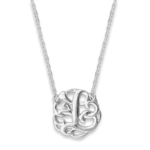 N0124-18 : 'L' Monogram Necklace