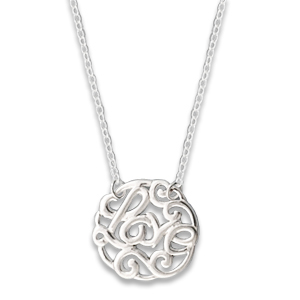 N0125-18 : 'Love' Monogram Necklace