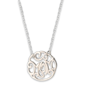N0126-18 : 'Mom' Monogram Necklace
