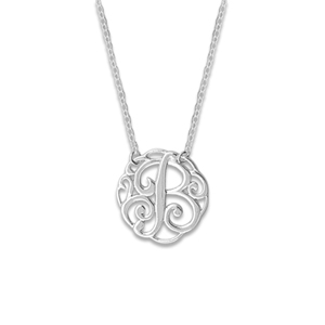 N0128-18 : 'B' Monogram Necklace