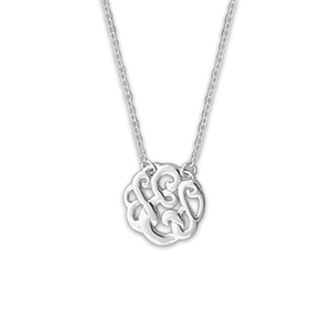 N0129-18 : 'E' Monogram Necklace