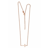 N0139RG Cross Necklace