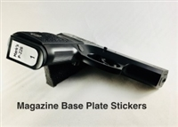 Glock Magazine Base Plate Stickers - Set of 6