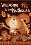 Fall Nuthouse Decorative House Flag