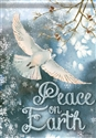 White Dove Glitter Garden Flag