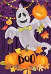 Ghouly Ghost Decorative Garden Flag