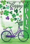 St. Pat's Bike Decorative Garden Flag