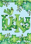 Feeling Lucky Decorative Garden Flag