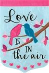 Love is in the Air Applique Garden Flag