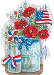 Patriotic Still Life Large PVC Door Decor