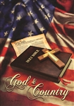 God and Country Decorative House Flag