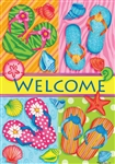 Flip Flop Welcome Decorative House Flag