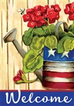 Patriotic Geranium Decorative House Flag