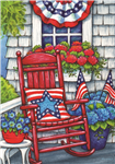 Patriotic Porch Standard House Flag