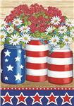 Geraniums and Daisies Standard House Flag