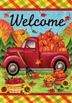 Fall Truck Decorative House Flag