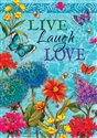 Live, Laugh, Love Decorative House Flag