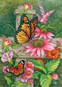Butterfly Fence Decorative House Flag