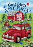 Truck and Barn Decorative House Flag