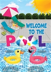 Welcome to the Pool Decorative House Flag