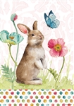Bunny & Flowers Decorative House Flag