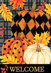Painted Pumpkins Garden Flag