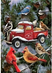 Bird Feeder Truck Garden Flag