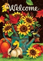 Sunflower & Birds Decorative Garden Flag